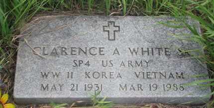 WHITE, CLARENCE A. SR. - Thurston County, Nebraska | CLARENCE A. SR. WHITE - Nebraska Gravestone Photos