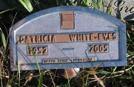 WHITE EYES, PATRICIA - Thurston County, Nebraska | PATRICIA WHITE EYES - Nebraska Gravestone Photos