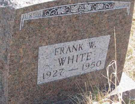 WHITE, FRANK W. - Thurston County, Nebraska | FRANK W. WHITE - Nebraska Gravestone Photos