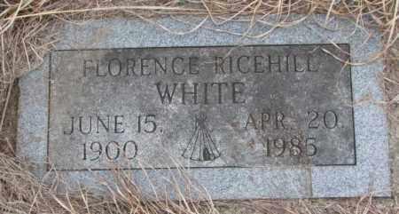 WHITE, FLORENCE - Thurston County, Nebraska | FLORENCE WHITE - Nebraska Gravestone Photos
