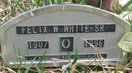 WHITE, FELIX W. SR. - Thurston County, Nebraska   FELIX W. SR. WHITE - Nebraska Gravestone Photos