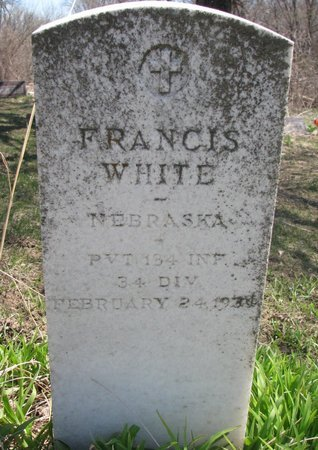 WHITE, FRANCIS - Thurston County, Nebraska | FRANCIS WHITE - Nebraska Gravestone Photos