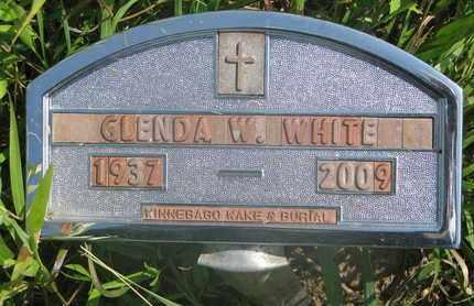 WHITE, GLENDA W. - Thurston County, Nebraska | GLENDA W. WHITE - Nebraska Gravestone Photos