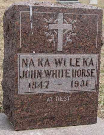 WHITE HORSE, JOHN - Thurston County, Nebraska | JOHN WHITE HORSE - Nebraska Gravestone Photos