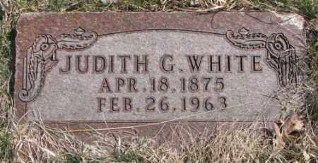 WHITE, JUDITH G. - Thurston County, Nebraska | JUDITH G. WHITE - Nebraska Gravestone Photos