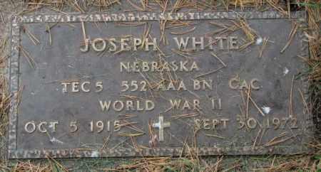 WHITE, JOSEPH - Thurston County, Nebraska   JOSEPH WHITE - Nebraska Gravestone Photos