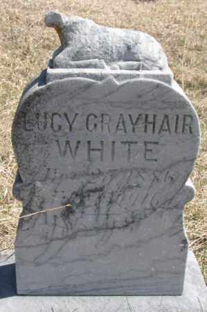 WHITE, LUCY - Thurston County, Nebraska | LUCY WHITE - Nebraska Gravestone Photos