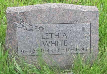 WHITE, LETHIA - Thurston County, Nebraska | LETHIA WHITE - Nebraska Gravestone Photos