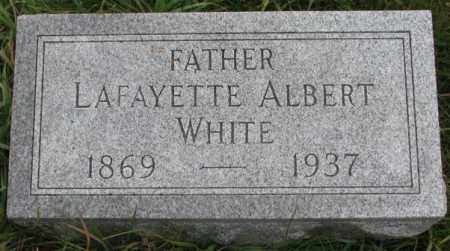 WHITE, LAFAYETTE ALBERT - Thurston County, Nebraska | LAFAYETTE ALBERT WHITE - Nebraska Gravestone Photos