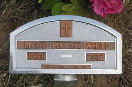 WHITE, MARY MAXINE - Thurston County, Nebraska | MARY MAXINE WHITE - Nebraska Gravestone Photos