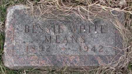 WHITE MEANS, BESSIE - Thurston County, Nebraska | BESSIE WHITE MEANS - Nebraska Gravestone Photos