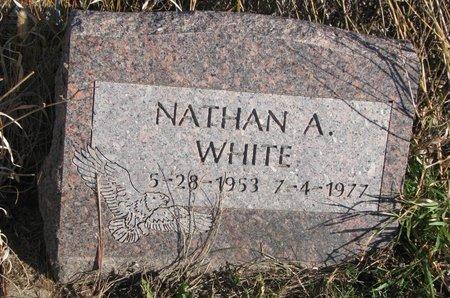 WHITE, NATHAN A. - Thurston County, Nebraska   NATHAN A. WHITE - Nebraska Gravestone Photos