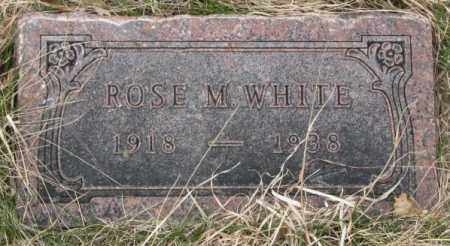 WHITE, ROSE M. - Thurston County, Nebraska | ROSE M. WHITE - Nebraska Gravestone Photos