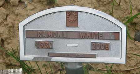 WHITE, RAMONA - Thurston County, Nebraska   RAMONA WHITE - Nebraska Gravestone Photos