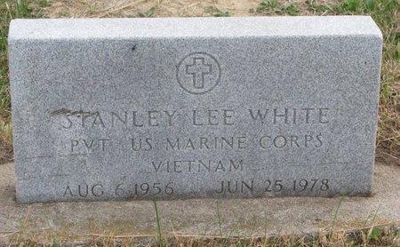 WHITE, STANLEY LEE - Thurston County, Nebraska | STANLEY LEE WHITE - Nebraska Gravestone Photos