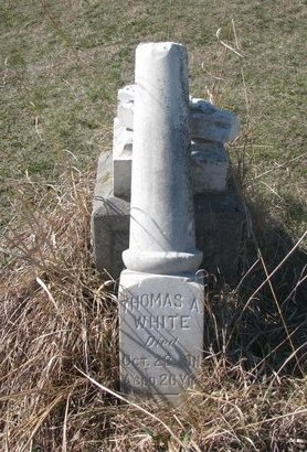 WHITE, THOMAS A. - Thurston County, Nebraska | THOMAS A. WHITE - Nebraska Gravestone Photos