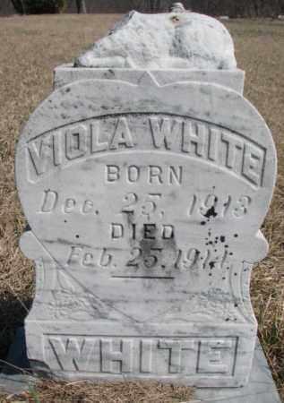 WHITE, VIOLA - Thurston County, Nebraska | VIOLA WHITE - Nebraska Gravestone Photos