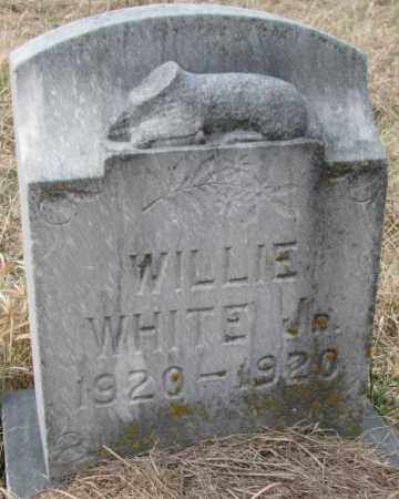 WHITE, WILLIE JR. - Thurston County, Nebraska | WILLIE JR. WHITE - Nebraska Gravestone Photos