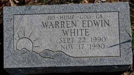 WHITE, WARREN EDWIN - Thurston County, Nebraska | WARREN EDWIN WHITE - Nebraska Gravestone Photos