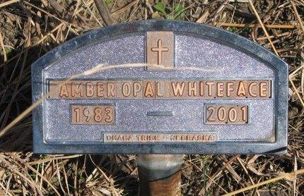 WHITEFACE, AMBER OPAL - Thurston County, Nebraska | AMBER OPAL WHITEFACE - Nebraska Gravestone Photos