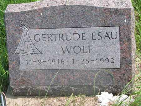 WOLF, GERTRUDE - Thurston County, Nebraska   GERTRUDE WOLF - Nebraska Gravestone Photos