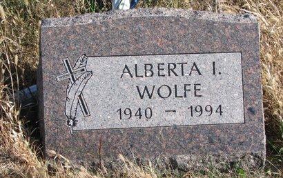 WOLFE, ALBERTA I. - Thurston County, Nebraska   ALBERTA I. WOLFE - Nebraska Gravestone Photos