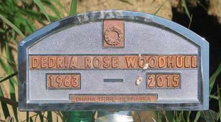 WOODHULL, DEDRIA ROSE - Thurston County, Nebraska | DEDRIA ROSE WOODHULL - Nebraska Gravestone Photos