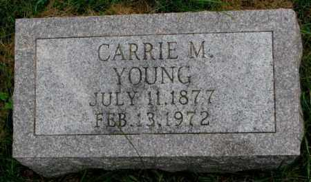 YOUNG, CARRIE M. - Thurston County, Nebraska   CARRIE M. YOUNG - Nebraska Gravestone Photos