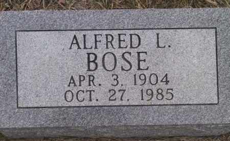 BOSE, ALFRED L - Valley County, Nebraska | ALFRED L BOSE - Nebraska Gravestone Photos