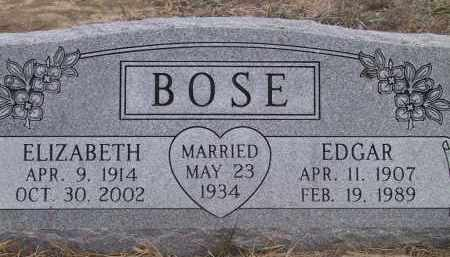 BOSE, EDGAR - Valley County, Nebraska | EDGAR BOSE - Nebraska Gravestone Photos
