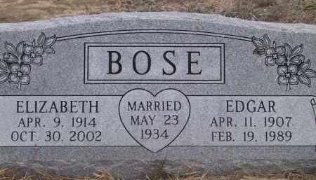 BOSE, EDGAR - Valley County, Nebraska | EDGAR BOSE - Nebraska Gravestone Photos
