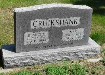 CRUIKSHANK, BLANCHE - Valley County, Nebraska   BLANCHE CRUIKSHANK - Nebraska Gravestone Photos