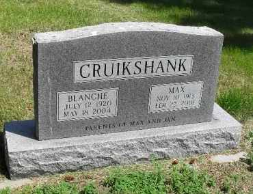CRUIKSHANK, MAX - Valley County, Nebraska   MAX CRUIKSHANK - Nebraska Gravestone Photos