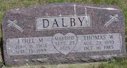 DALBY, THOMAS W - Valley County, Nebraska | THOMAS W DALBY - Nebraska Gravestone Photos