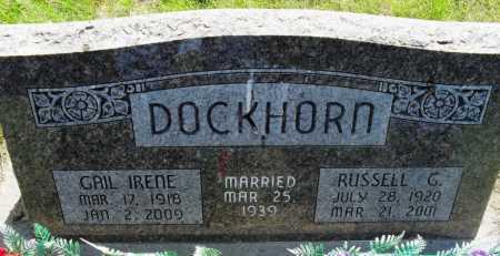 DOCKHORN, RUSSELL GLENN - Valley County, Nebraska | RUSSELL GLENN DOCKHORN - Nebraska Gravestone Photos