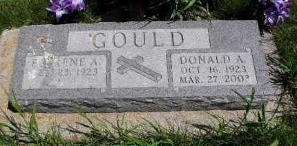 GOULD, DONALD A - Valley County, Nebraska   DONALD A GOULD - Nebraska Gravestone Photos