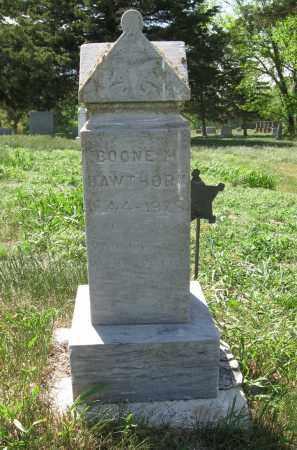 HAWTHORN, BOONE M - Valley County, Nebraska   BOONE M HAWTHORN - Nebraska Gravestone Photos