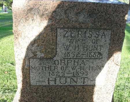 HUNT, ZERISSA - Valley County, Nebraska | ZERISSA HUNT - Nebraska Gravestone Photos