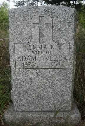 HVEZDA, EMMA K. - Valley County, Nebraska | EMMA K. HVEZDA - Nebraska Gravestone Photos