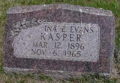 EVANS KASPER, INA E. - Valley County, Nebraska | INA E. EVANS KASPER - Nebraska Gravestone Photos