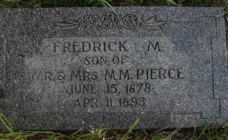 PIERCE, FREDERICK M. - Valley County, Nebraska | FREDERICK M. PIERCE - Nebraska Gravestone Photos