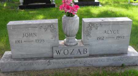 WOZAB, ALYCE - Valley County, Nebraska | ALYCE WOZAB - Nebraska Gravestone Photos