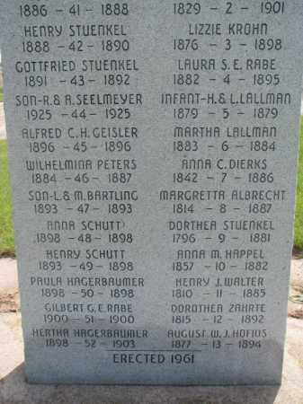 STUENKEL, DORTHEA - Washington County, Nebraska | DORTHEA STUENKEL - Nebraska Gravestone Photos