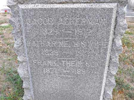 ACKERMAN, FRANK (CLOSE UP) - Washington County, Nebraska | FRANK (CLOSE UP) ACKERMAN - Nebraska Gravestone Photos