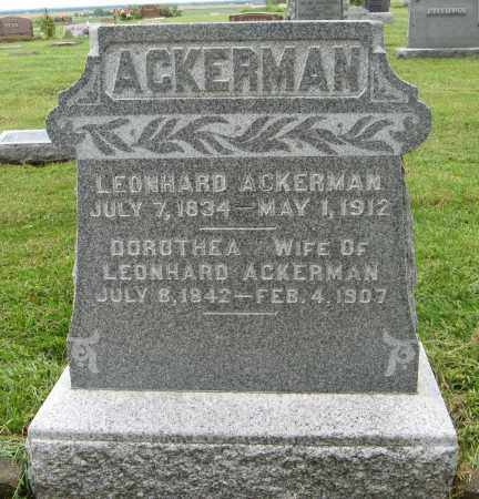 ACKERMAN, LEONHARD - Washington County, Nebraska | LEONHARD ACKERMAN - Nebraska Gravestone Photos