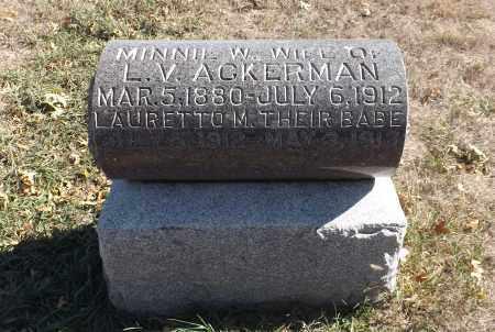 ACKERMAN, LAURETTO M. - Washington County, Nebraska | LAURETTO M. ACKERMAN - Nebraska Gravestone Photos