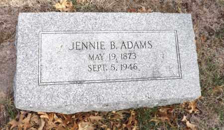 ADAMS, JENNIE B. - Washington County, Nebraska | JENNIE B. ADAMS - Nebraska Gravestone Photos