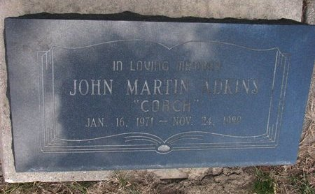 "ADKINS, JOHN MARTIN ""COACH"" - Washington County, Nebraska 