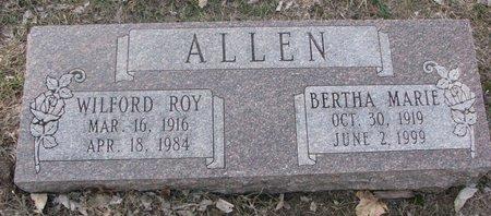 ALLEN, BERTHA MARIE - Washington County, Nebraska | BERTHA MARIE ALLEN - Nebraska Gravestone Photos