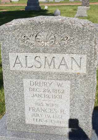 ALSMAN, FRANCES - Washington County, Nebraska | FRANCES ALSMAN - Nebraska Gravestone Photos